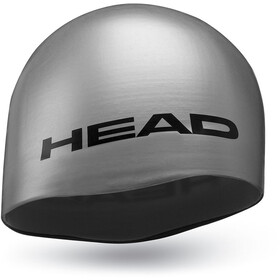 Head Silicone Moulded Swimcap silver